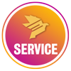 Call to Action Button Iconic Service