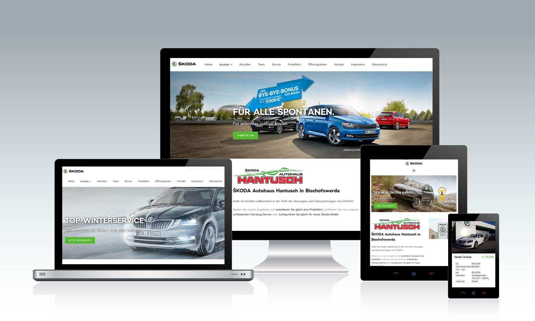 Website für Autohäuser