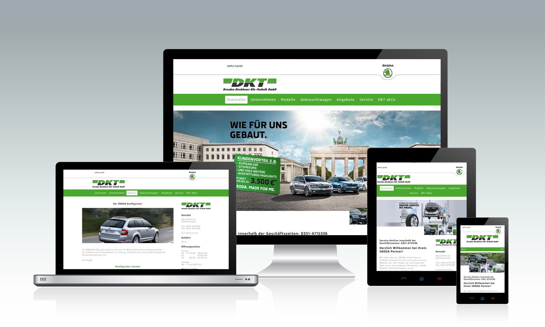 Website für Autohaus