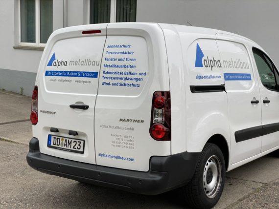 Beschriftung Dresden Fahrzeug